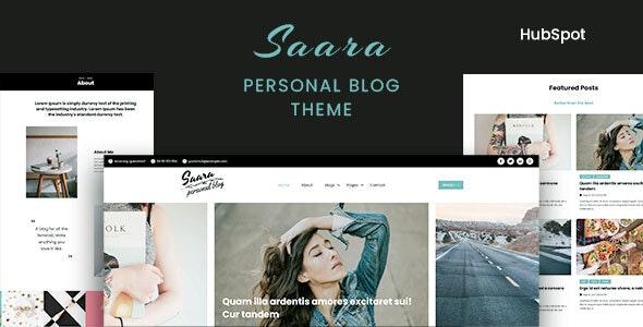 Saara - Personal Blog HubSpot Theme - Blog / Magazine HubSpot CMS Hub