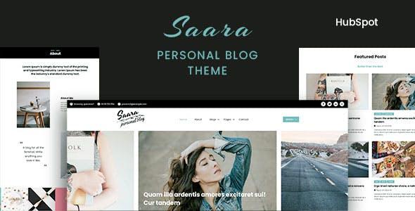 Saara - Personal Blog HubSpot Theme