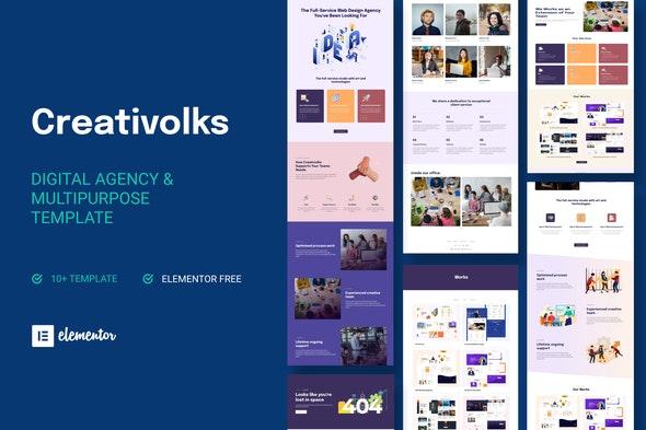 Creativolks - Creative & Business Agency Elementor Template Kit - Creative & Design Elementor