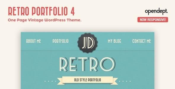 Retro Portfolio - One Page Vintage WordPress Theme - Personal Blog / Magazine