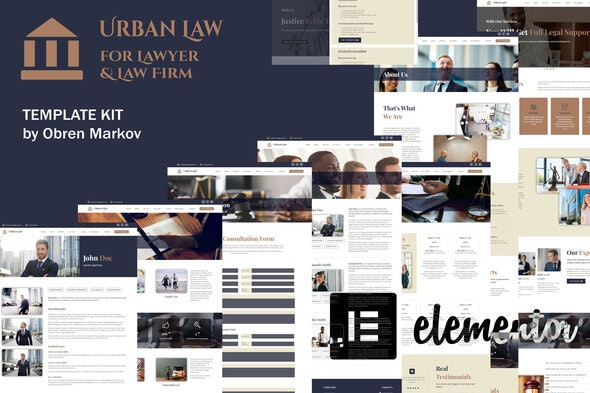 Urban Law - Lawyer & Law Firm Elementor Template Kit - Finance & Law Elementor
