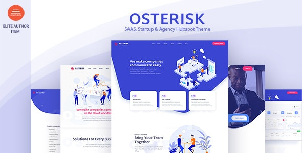 Osterisk: Saas, Startup & Agency Hubspot Theme - Corporate HubSpot CMS Hub