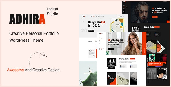 Adhira - Creative Agency Portfolio WordPress Theme - Portfolio Creative