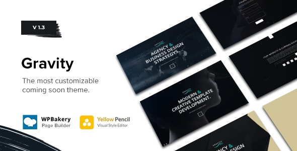 Gravity - Multi-Purpose Coming Soon Theme - Creative WordPress
