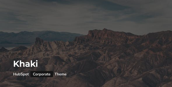 Khaki - Creative Corporate HubSpot Theme