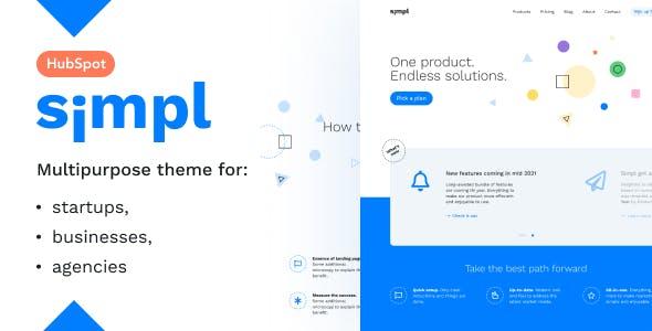 Simpl — Startup and Marketing HubSpot Theme