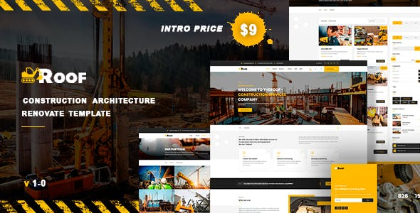 TheRoof - Construction Architecture Renovate HTML Template