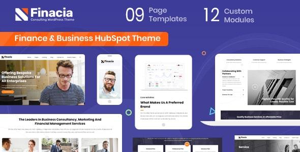 Finacia - Finance Corporate HubSpot Theme - Corporate HubSpot CMS Hub