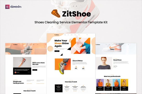 Zitshoe - Shoes Cleaning Service Elementor Template Kit - Business & Services Elementor