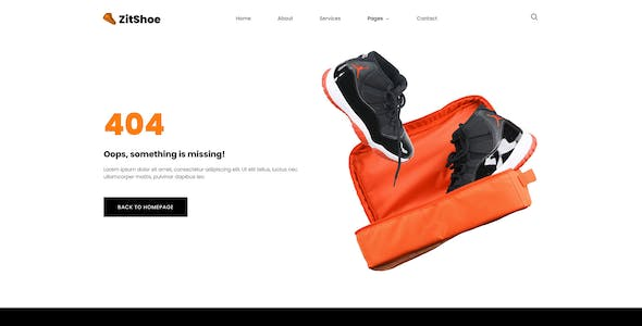 Zitshoe - Shoes Cleaning Service Elementor Template Kit