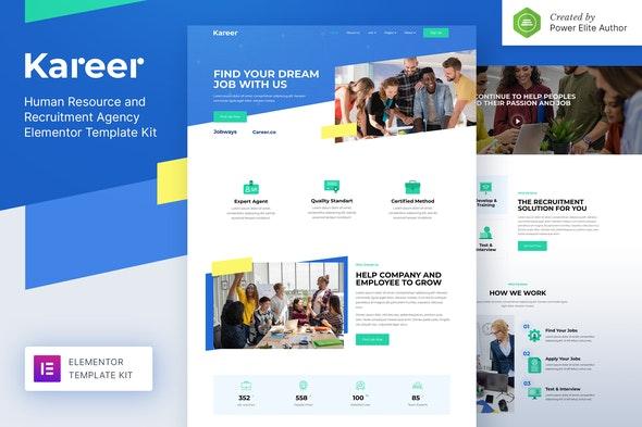 Kareer – Human Resource & Recruitment Agency Elementor Template Kit - Business & Services Elementor