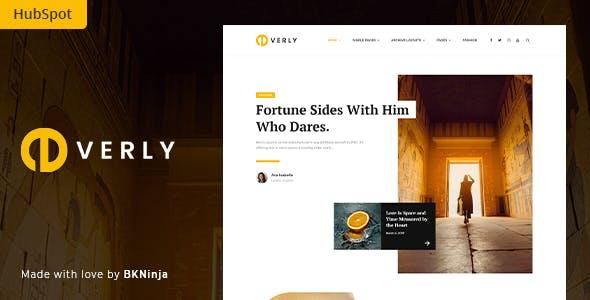 Everly - Blog and Magazine HubSpot Theme