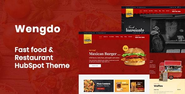 Wengdo - Fastfood HubSpot Theme - HubSpot CMS Hub CMS Themes