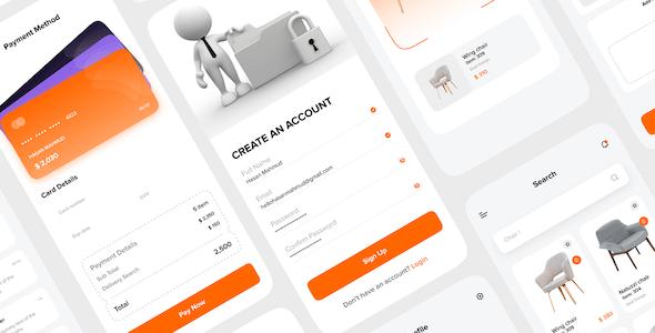 FURNITURA - Furniture Mobile App UI Kit For Adobe XD