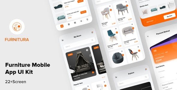 FURNITURA - Furniture Mobile App UI Kit For Sketch