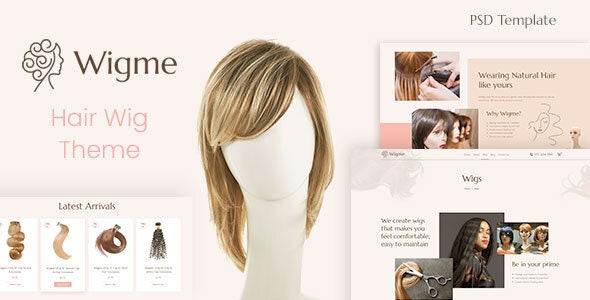 Wigme - Hair Extension, Beauty Salon PSD - Health & Beauty Retail