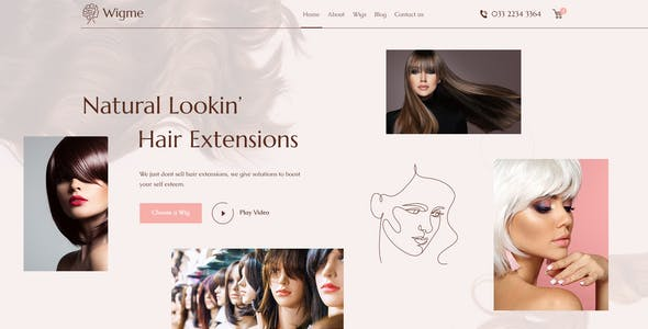 Wigme - Hair Extension, Beauty Salon PSD