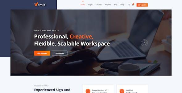 Vemlo - Digital Signage Services WordPress Theme