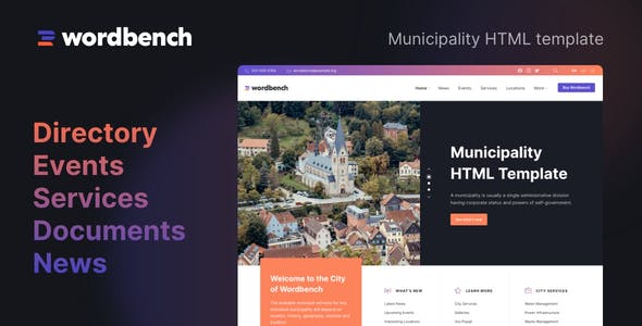 Wordbench - Municipality HTML Template