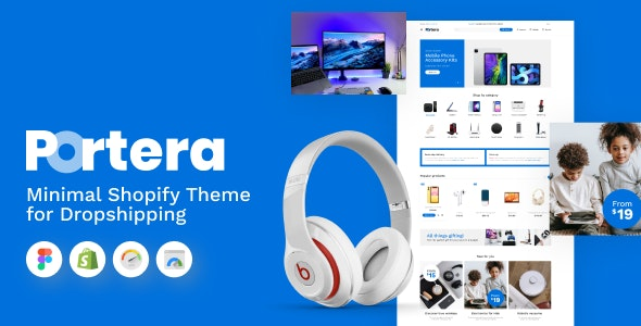 Portera - Minimal Shopify Theme for Dropshipping - Technology Shopify