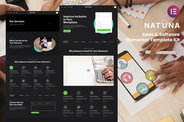 Natuna - Saas & Software Elementor Template Kit - Technology & Apps Elementor