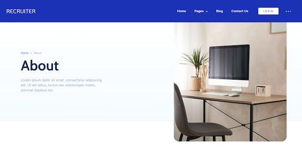 Recruiter - Human Resource & Recruitment Agency Template Kit