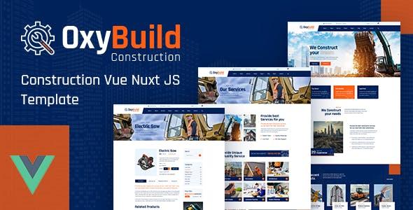 OxyBuild – Construction Vue Nuxt JS Template