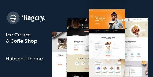 Bagery - Ice Cream Shop  HubSpot Theme - Corporate HubSpot CMS Hub