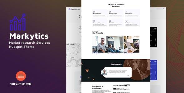 Markytics - Market research Services HubSpot Theme