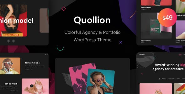 Quollion - Colorful Agency & Portfolio WordPress Theme
