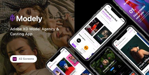 Modely - Adobe XD Model Agency & Casting App