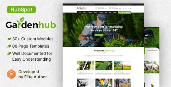 Garden HUB - Lawn & Landscaping HubSpot Theme