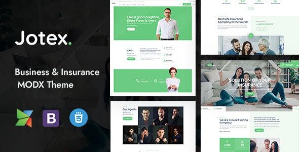 Jotex - Insurance MODX Theme - MODX Themes CMS Themes
