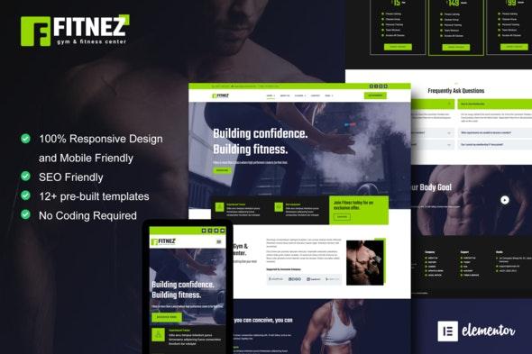 Fitnez - Fitness & Gym Elementor Template Kit - Sport & Fitness Elementor
