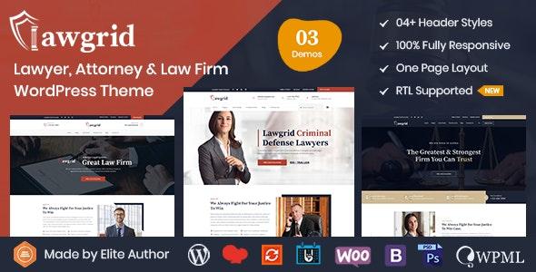Lawgrid - Lawyer & Attorney WordPress Theme - Business Corporate