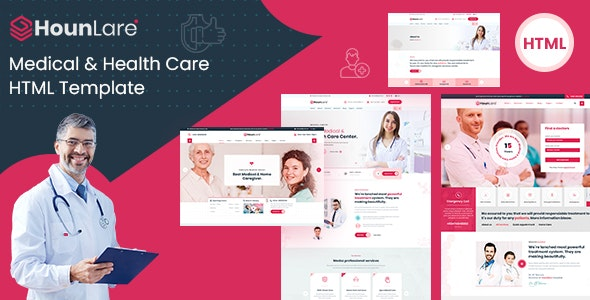 HounLare - Medical & Health Care Services HTML5 Template - Business Corporate