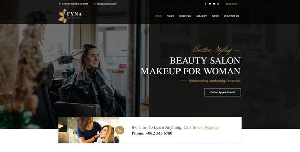 Fyna - Beauty salon and Spa WordPress Theme