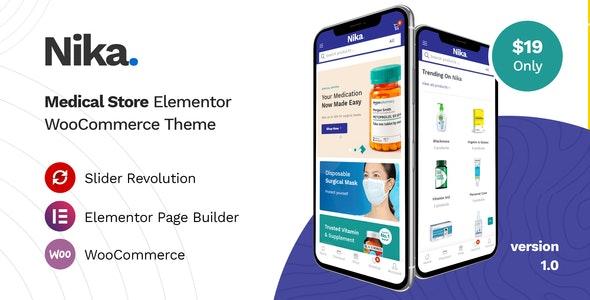 Nika - Medical Elementor WooCommerce Theme - WooCommerce eCommerce