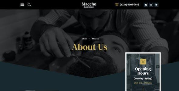 Maccho - Gentlemen Barbershop Elementor Template Kit