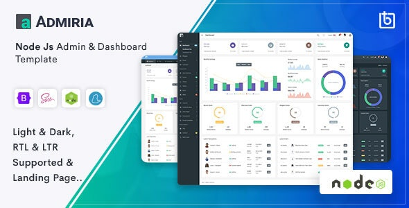 Admiria - Node Js Admin & Dashboard Template - Admin Templates Site Templates
