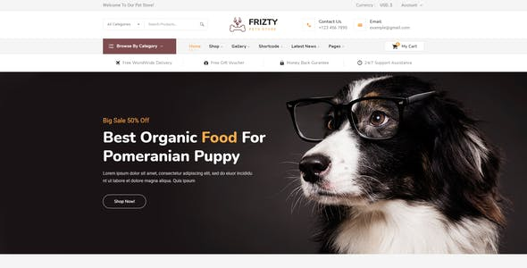 Frizty - Pet Shop WooCommerce Theme