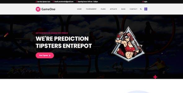 GameOne - Sports & Betting Platform XD Template