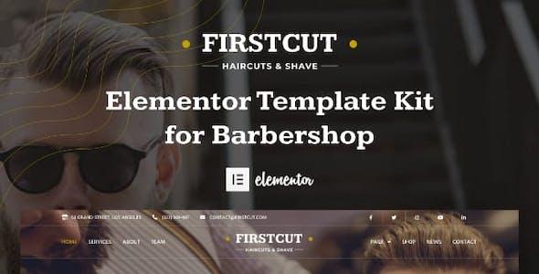 FirstCut - Barbershop & Men's Grooming Elementor Template Kit