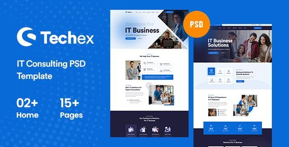 Techex - Information & Technology PSD Template - Technology Photoshop