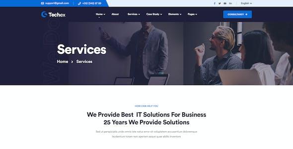 Techex - Information & Technology PSD Template