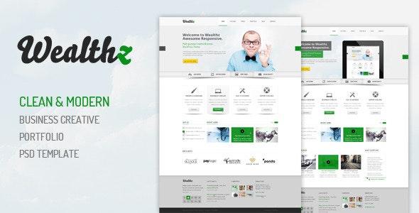 Wealthz | Creative Corporate PSD Template - Creative Photoshop