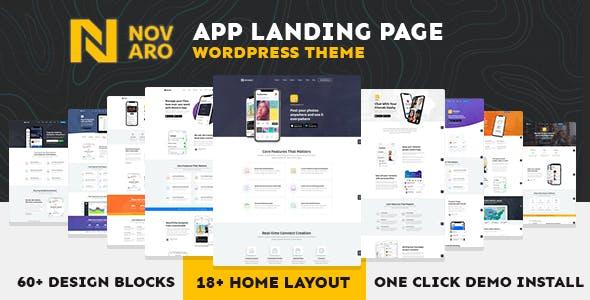 App Landing Page WordPress Theme - Novaro