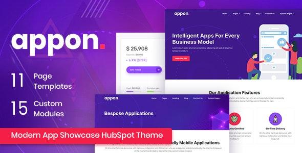 Appon - App SaaS HubSpot Theme - Technology HubSpot CMS Hub