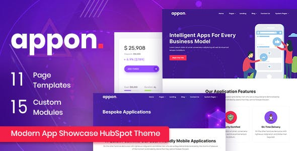 Appon - App SaaS HubSpot Theme