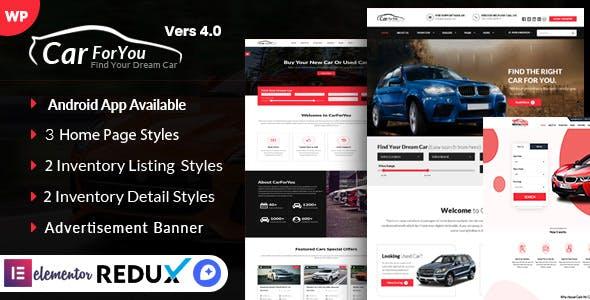 Auto CarForYou - Responsive Car Dealer WordPress Theme